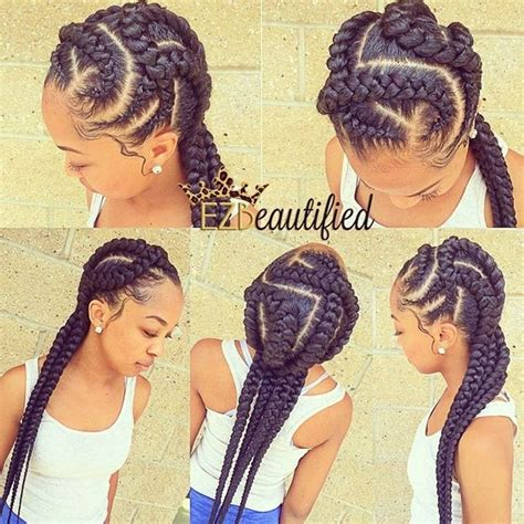 large cornrow hairstyles big cornrow braid styles braiding hairstyle pictures