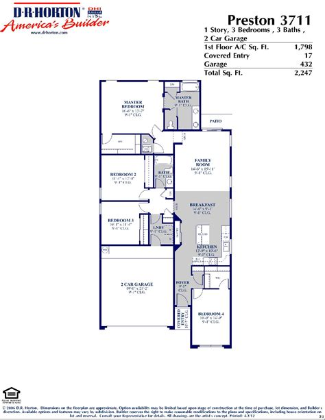 preston floor plan dr horton preston floor plan