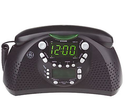 Bedroom Alarm Clock Radio Ge Dual Alarm Am Fm Clock Radio And Bedroom Phone W Caller