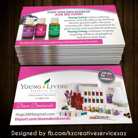 designs young living business cards zazzle together with