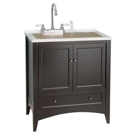 Laundry Room Vanity Cabinet Foremost Stratford 30 In Laundry Vanity In Espresso And Premium Acrylic Sink In White And