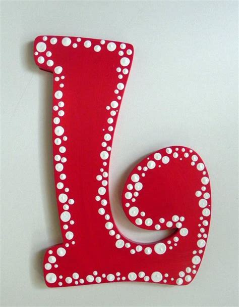 decorative christmas letters dotted painted letter to match room d 233 cor
