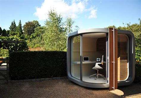 Backyard Pod by Backyard Office Pod Cuts Your Commute Time