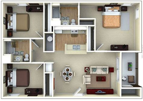 gambar denah rumah minimalis   kamar tidur