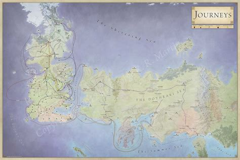 of thrones character map journeys map of the character routes for of thrones