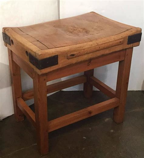 big butcher block large butcher s block on stand for sale at 1stdibs