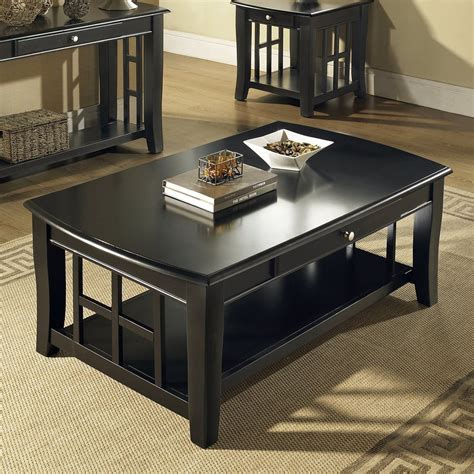 black coffee table set sheffield shop steve silver company cassidy birch coffee table at lowes
