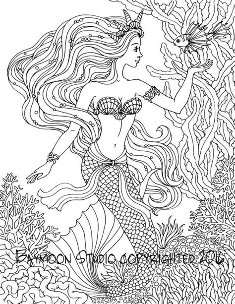 coloring pages for adults mermaid mermaid coloring pages for adults at coloring book