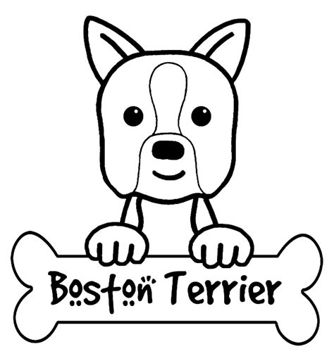 boston terrier coloring page boston terrier coloring pages to print coloring pages