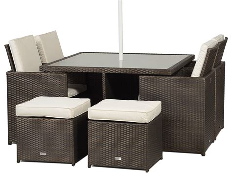 giardino rattan garden furniture  seat cube dining set