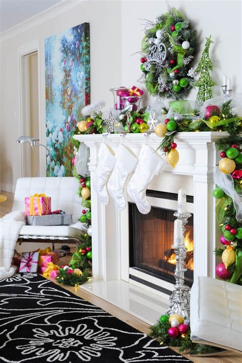 christmas decoration ideas for the home pink and yellow holiday home amazing decor flooring