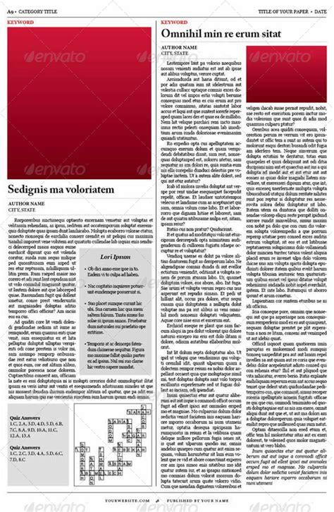 style newspaper template  tedfull graphicriver