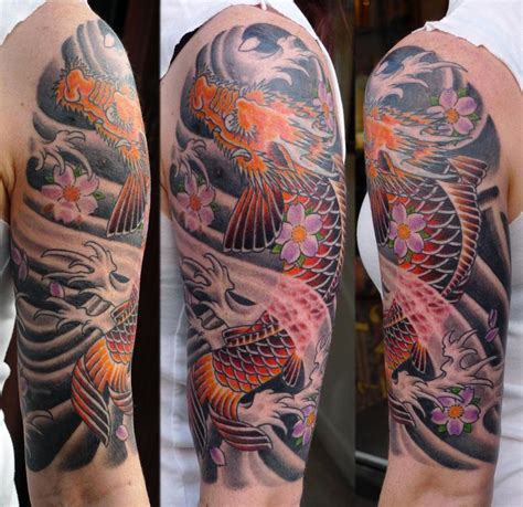 chinese sleeve tattoos asian inspired half sleeve by sweety tattoonow