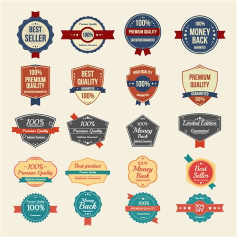 Vector Format Eps Or Ai | 100 free vector vintage badges stickers sts in ai