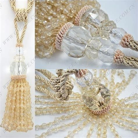 how to make curtain tie backs with beads beige tie cord beads curtain tiebacks tie backs tassels