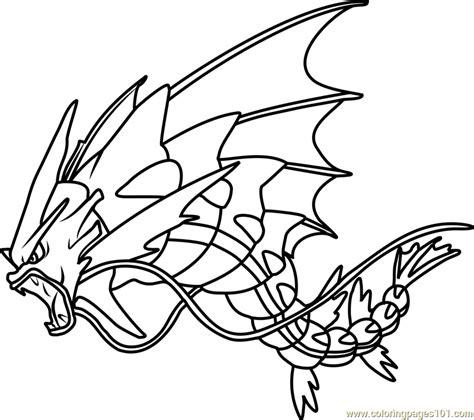 pokemon coloring pages gyarados mega gyarados pokemon coloring page free pok 233 mon