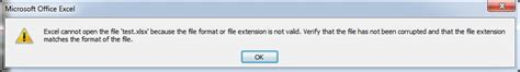 file format not valid excel excel 2010 file format extension not valid unable to