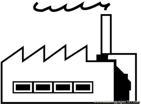Coloring Pages Factory Architecture Gt Buildings Free Factory Coloring Pages