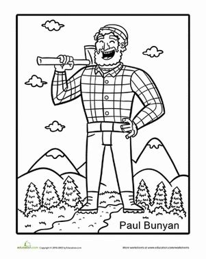 tall tales paul bunyan worksheet education com
