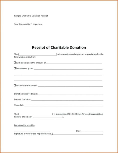 irs donation receipt template irs donation receipt charitable donations receipt irs