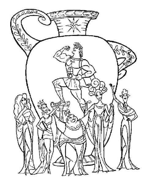 Hercules coloring pages. Download and print Hercules