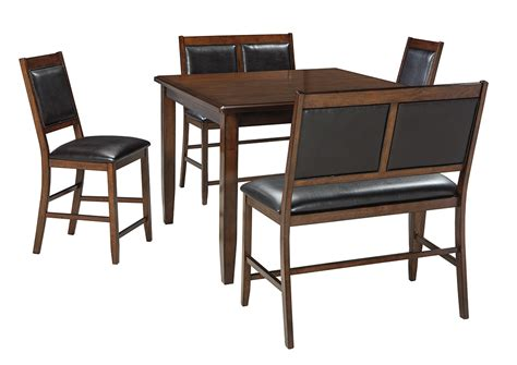 brown dining room table harlem furniture meredy brown dining room counter table set