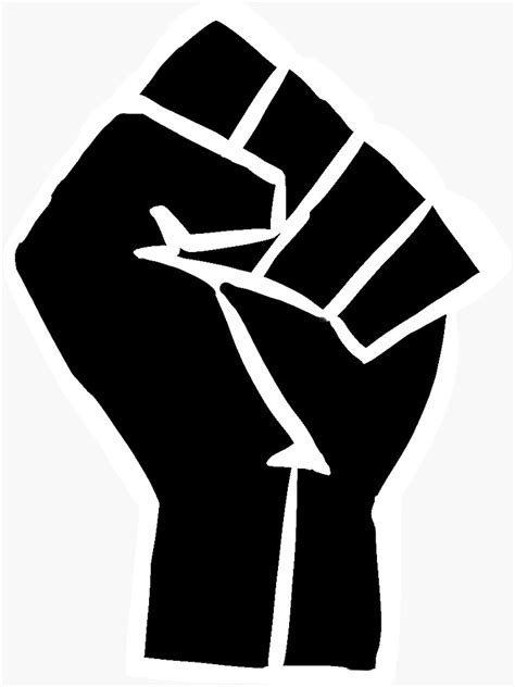 """BLM Fist"" Sticker by ariana0414 