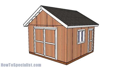 14x14 Shed Plans by 14x14 Shed Doors Plans Howtospecialist How To Build