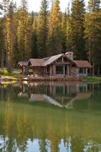 log cabin on a lake alecia