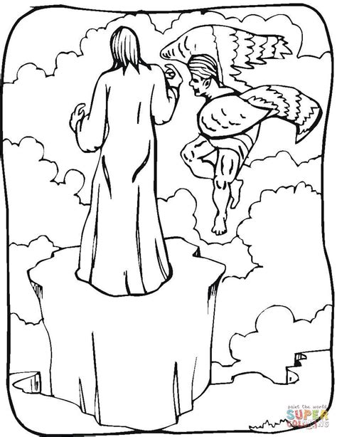 coloring pages jesus tempted desert jesus tempted in the desert coloring page coloring pages
