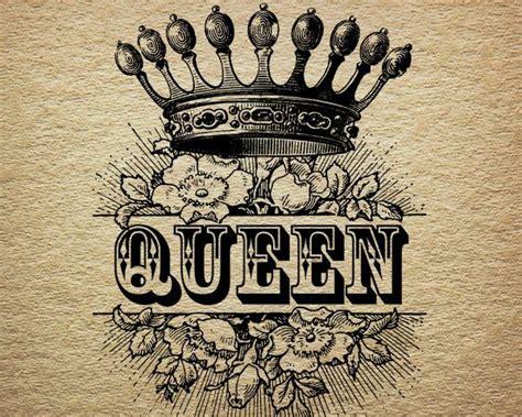 queen tattoo vorlagen queen crown royalty roses victorian antique by
