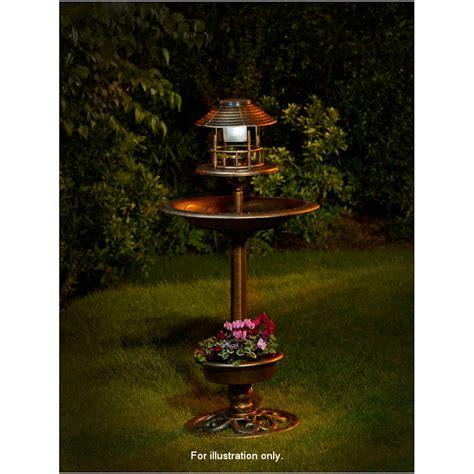 bird bath feeder with solar light and planter bird bath solar light pictures to pin on pinsdaddy