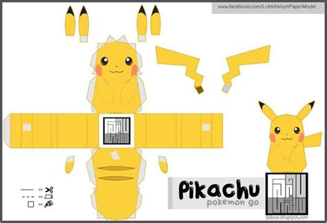 Pikachu Papercraft Template - papermau go easy to build pikachu paper