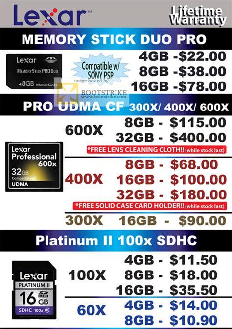 Lexar Platinum Ii Memory Pro Stick Pro Duo 8gb convergent lexar flash memory memory stick duo pro udma cf compactflash platinum ii 100x sdhc it