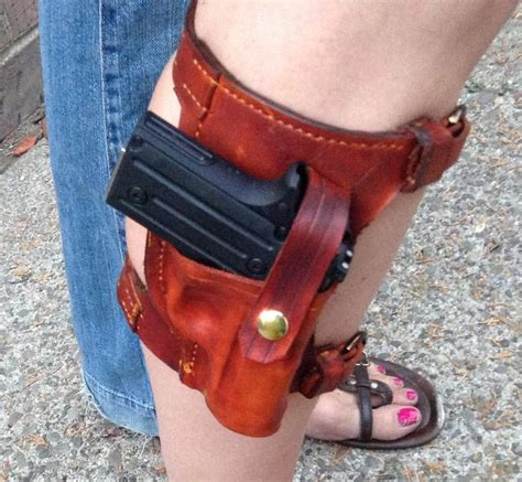 most comfortable ankle holster custom leather leg ankle holster molded exterior for a