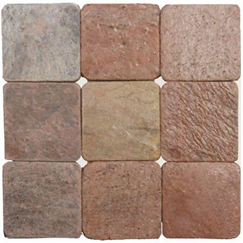 copper gold slate 4x4 tumbled