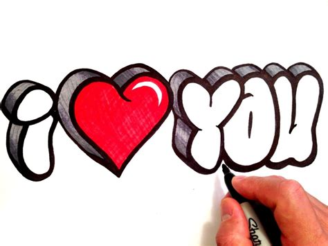 imágenes de i love you para dibujar dibujos de i love you graffiti como dibujar graffitis de
