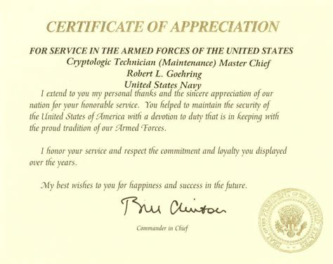 usmc certificate of commendation template gallery