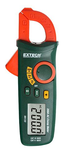 Extech Ma250 200a Ac Cl Meter Ncv ac cl meters extech instruments