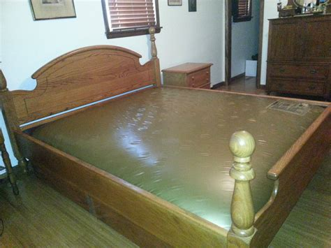 water beds for sale king size solid oak waterbed waveless in bethanns garage
