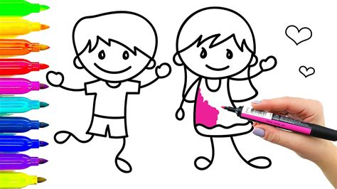how to draw and paint children colouring for coloring book with colored markers