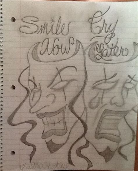 tom hardy tattoo designs smile now cry later inspired by tom hardy s not