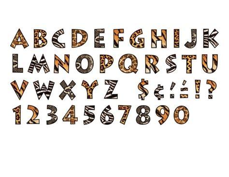 printable animal print letters pin by deann uhles scott on calligraphy handwritten