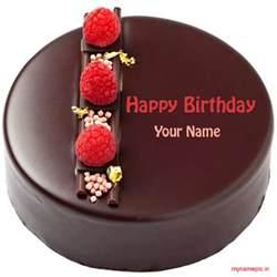 birthday card with name generator write your name on chocolate birthday cake profile pic