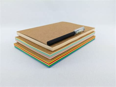 sketchbook with colored paper colored paper journal notebook a5 journal sketchbook blank