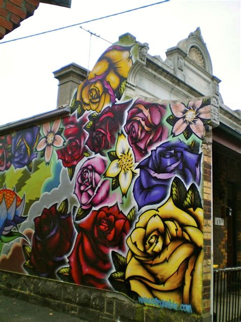 roses street art grafitti street art graffiti murals