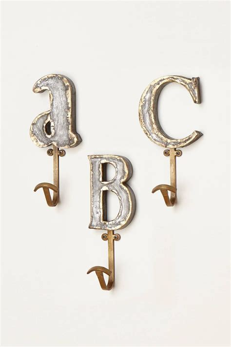 letter hooks for bathroom marquee letter hook anthropologie com for the home