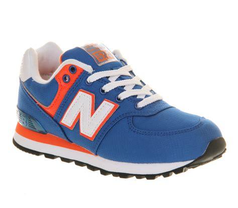 new balance 574 lace 10 2 royal blue orange