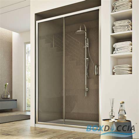 parete box doccia a nicchia box cabina doccia nicchia parete porta 1 anta cristallo