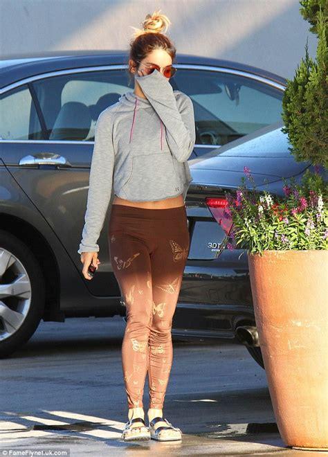 vanessa hudgens middle name vanessa hudgens works print leggings as she grabs a fresh